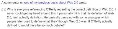 O'Reilly 2.0 web deuxième définition
