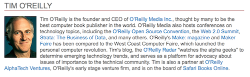 Tim O'Reilly bio